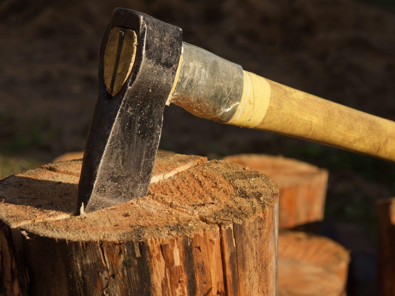 Hackklotz vom Brennholzwerk